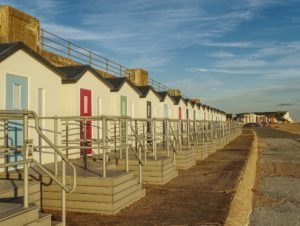A photograph of the Bonningstedt Beach Huts