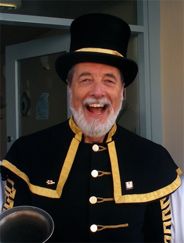 A photograph of Peter White, Seaford Town Crier