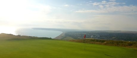 Sunny golf shot