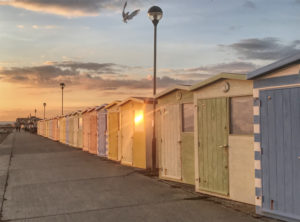 A photograph of Martello Beach Huts by photographer Tweaky Blinders