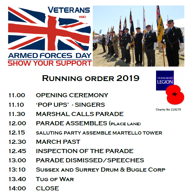 Armed Forces Day 2019 running order
