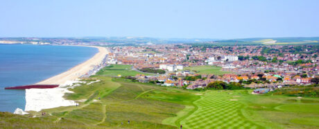 View of Seaford Town and Bay from the top of Seaford Head