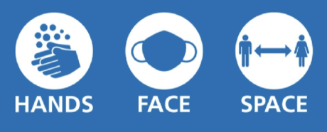 Hands, face, space logo