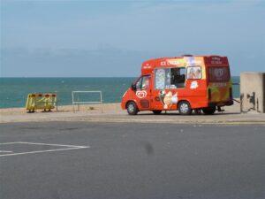 Photo of a mobile ice cream van