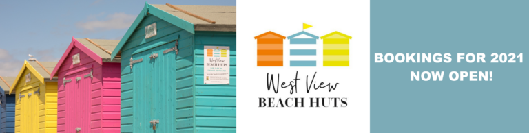 Photo of the West View Beach Huts with the words