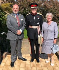Seaford Mayor Cllr Rodney Reed, Lord Lieutenant of East Sussex- Sir Peter Field, Lady Field