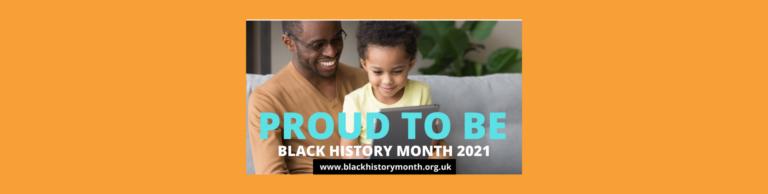 Banner highlighting Black History Month for October 2021